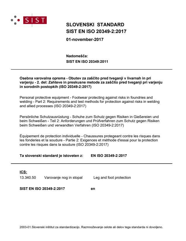 EN ISO 20349-2:2017