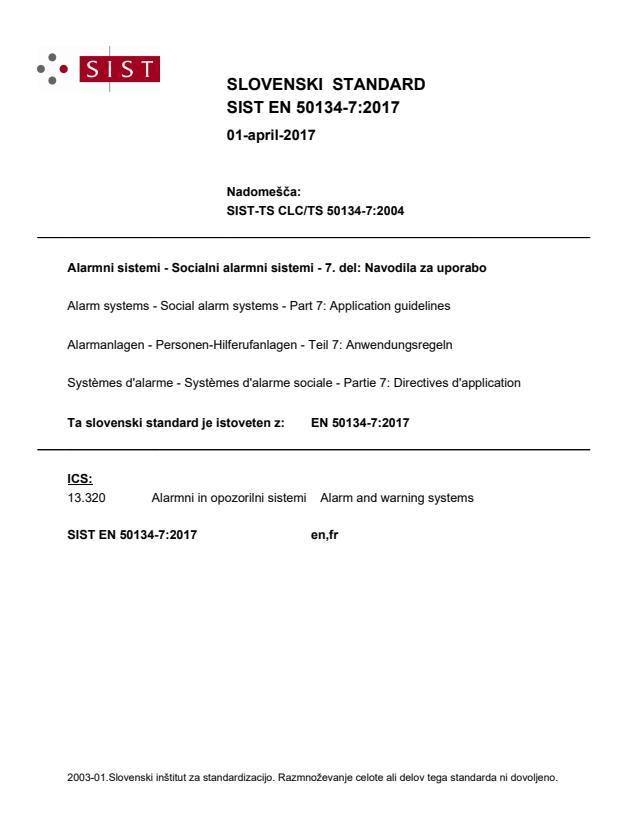 SIST EN 50134-7:2017