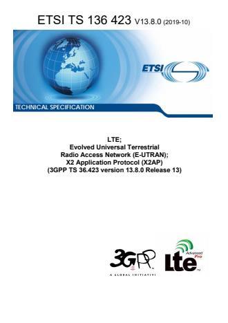 ETSI TS 136 423 V13.8.0 (2019-10)