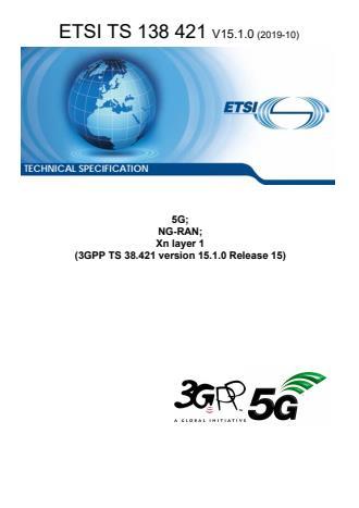 ETSI TS 138 421 V15.1.0 (2019-10)
