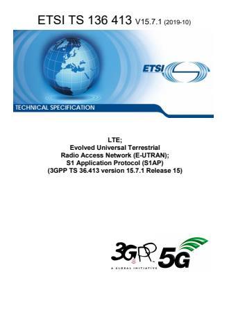 ETSI TS 136 413 V15.7.1 (2019-10)