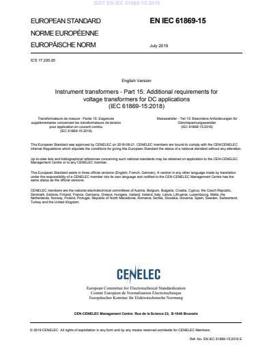 EN IEC 61869-15:2019
