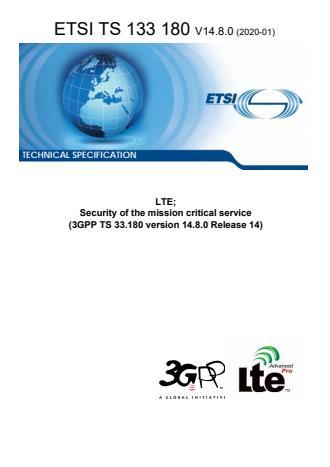 ETSI TS 133 180 V14.8.0 (2020-01)