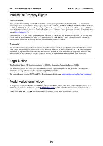 ETSI TR 133 916 V15.1.0 (2020-01)