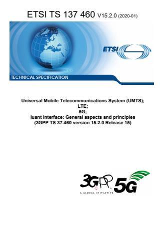 ETSI TS 137 460 V15.2.0 (2020-01)