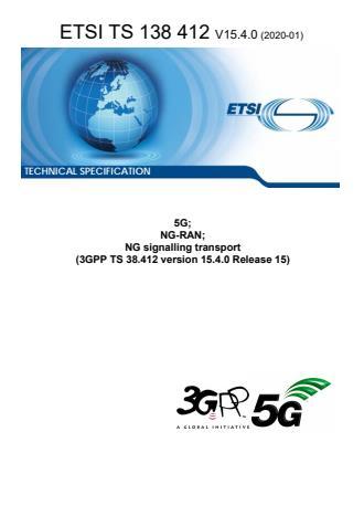 ETSI TS 138 412 V15.4.0 (2020-01)
