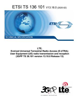ETSI TS 136 101 V13.18.0 (2020-02)
