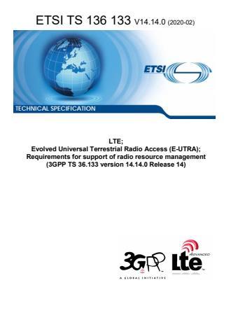 ETSI TS 136 133 V14.14.0 (2020-02)