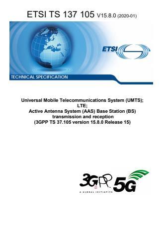 ETSI TS 137 105 V15.8.0 (2020-01)