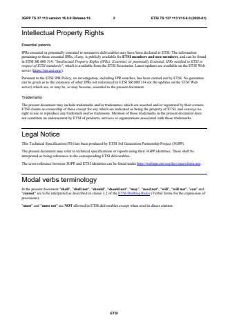 ETSI TS 137 113 V15.8.0 (2020-01)