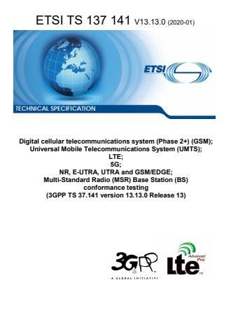 ETSI TS 137 141 V13.13.0 (2020-01)