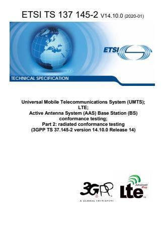ETSI TS 137 145-2 V14.10.0 (2020-01)