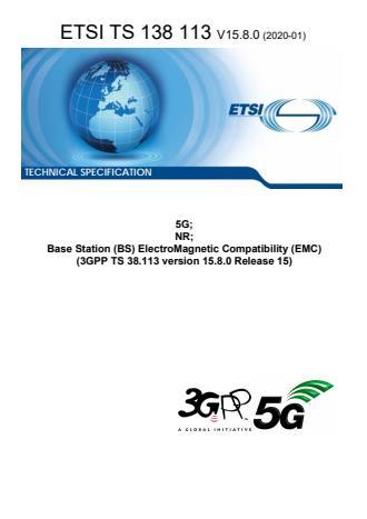 ETSI TS 138 113 V15.8.0 (2020-01)