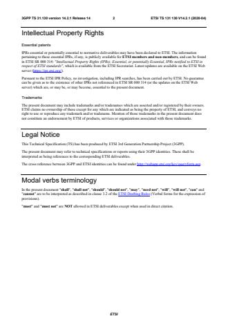 ETSI TS 131 130 V14.2.1 (2020-04)