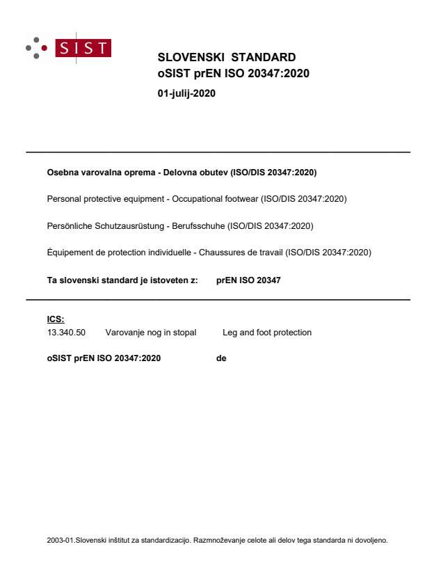 prEN ISO 20347:2020