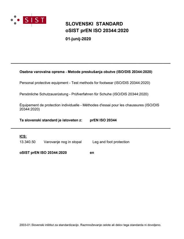 prEN ISO 20344