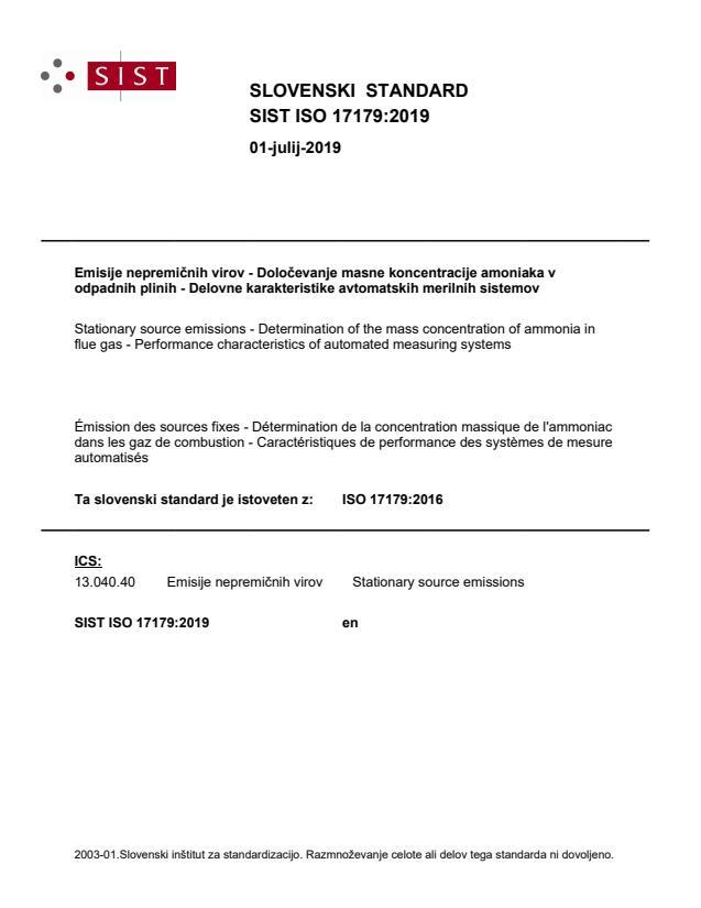 SIST ISO 17179:2019