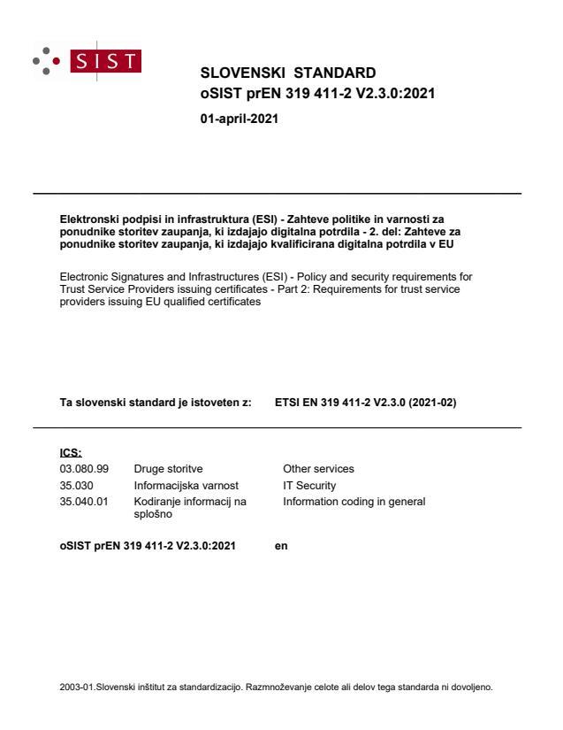prEN 319 411-2 V2.3.0:2021