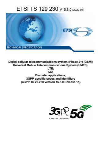 ETSI TS 129 230 V15.8.0 (2020-04)
