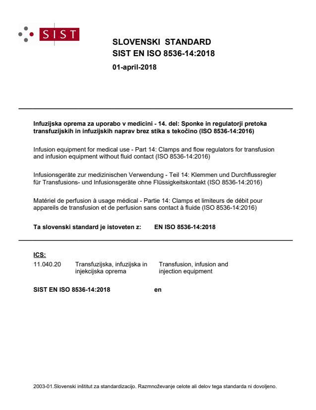 EN ISO 8536-14:2018