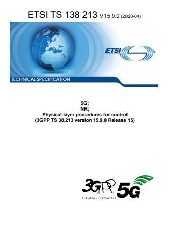 ETSI TS 138 213 V15.9.0 (2020-04)