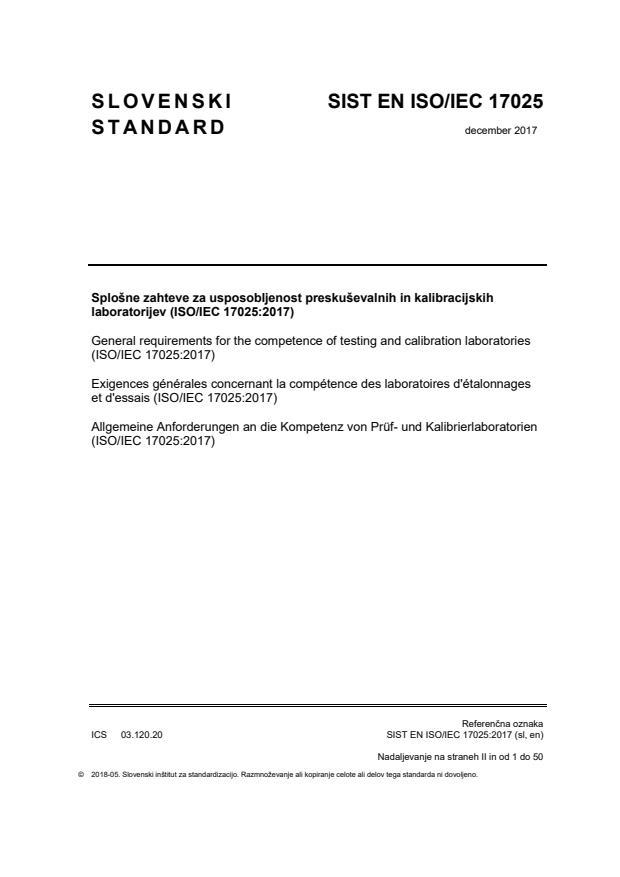 EN ISO/IEC 17025:2017