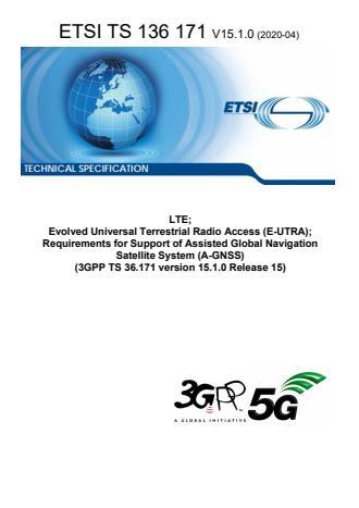 ETSI TS 136 171 V15.1.0 (2020-04)