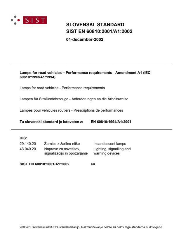 SIST EN 60810:2001/A1:2002