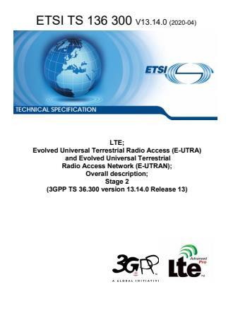 ETSI TS 136 300 V13.14.0 (2020-04)