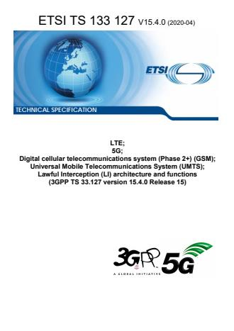 ETSI TS 133 127 V15.4.0 (2020-04)