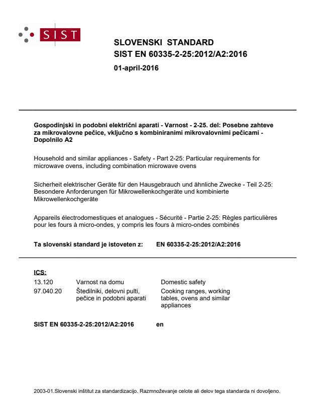 EN 60335-2-25:2012/A2:2016