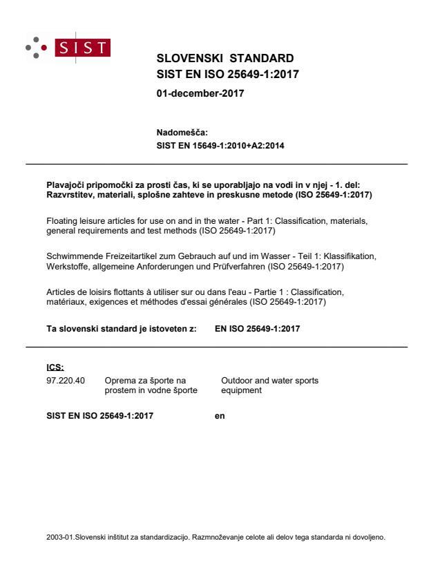 EN ISO 25649-1:2017