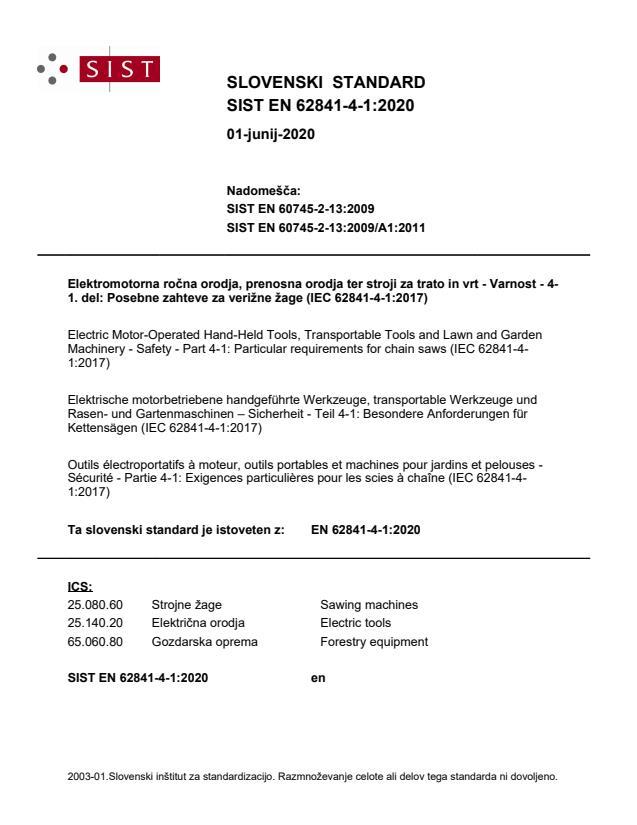 EN 62841-4-1:2020
