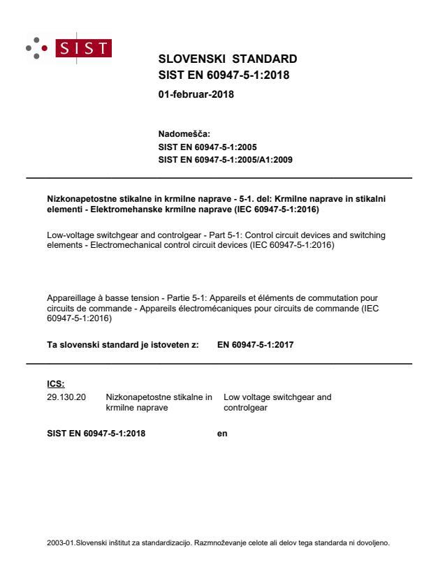 EN 60947-5-1:2017
