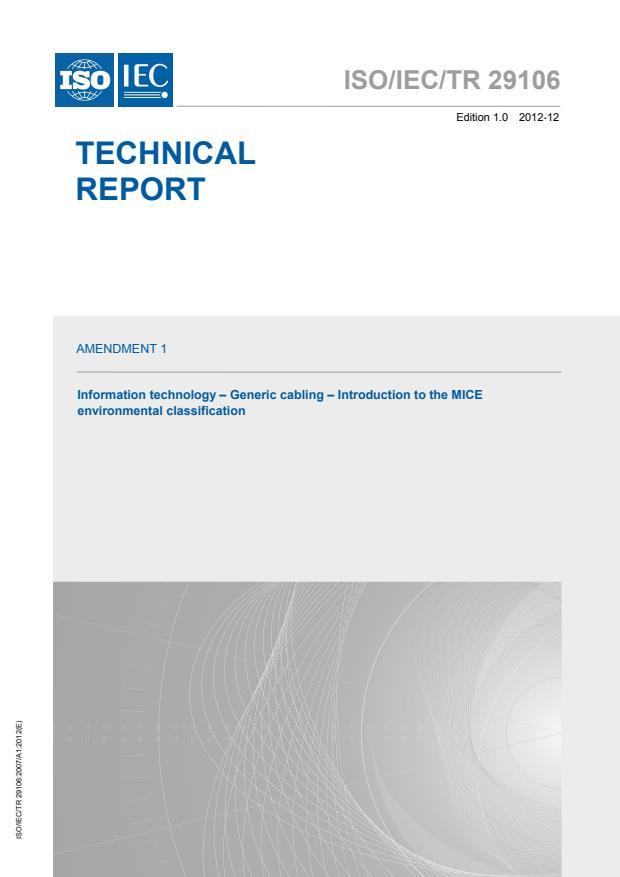 ISO/IEC TR 29106:2007/Amd 1:2012
