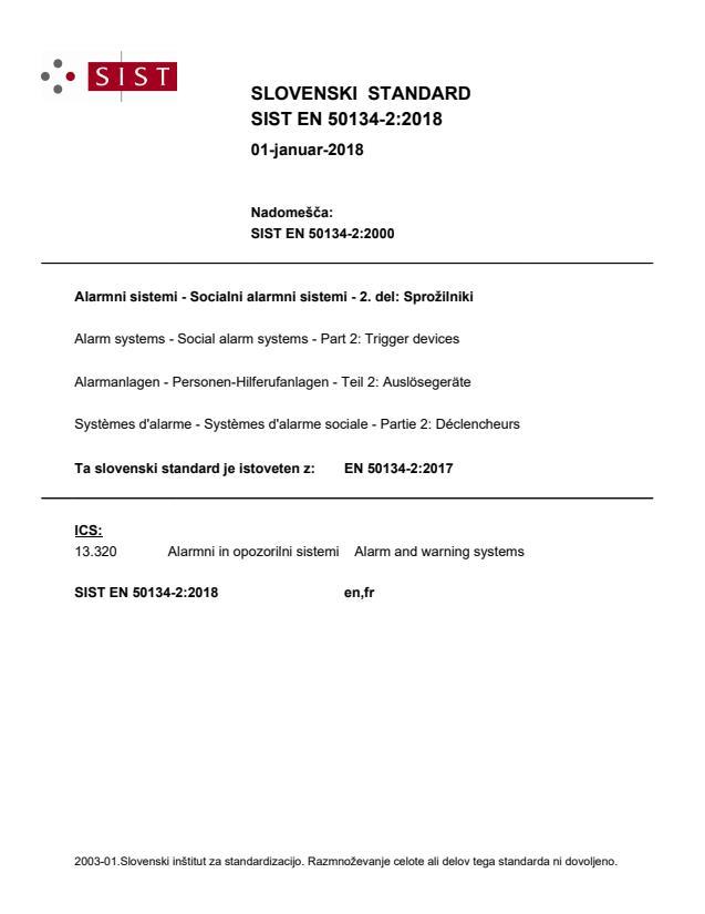 SIST EN 50134-2:2018