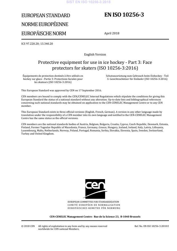 SIST EN ISO 10256-3:2018