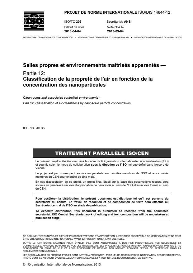 ISO/DIS 14644-12