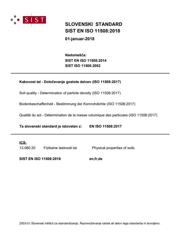 EN ISO 11508:2018