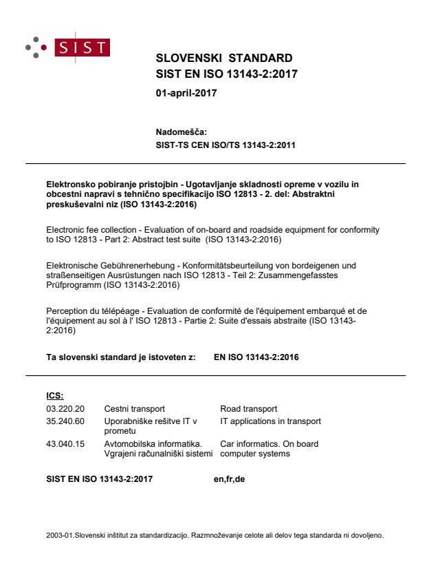 SIST EN ISO 13143-2:2017