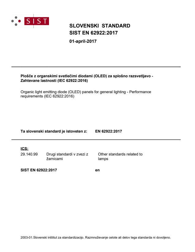 EN 62922:2017