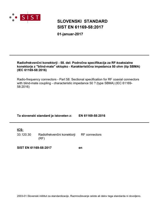 SIST EN 61169-58:2017