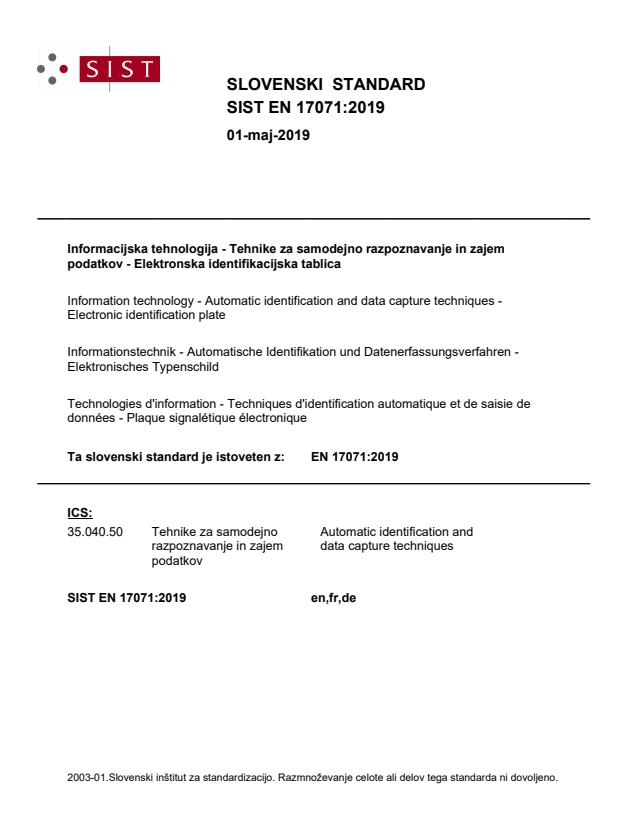 SIST EN 17071:2019 - BARVE na PDF-str 10
