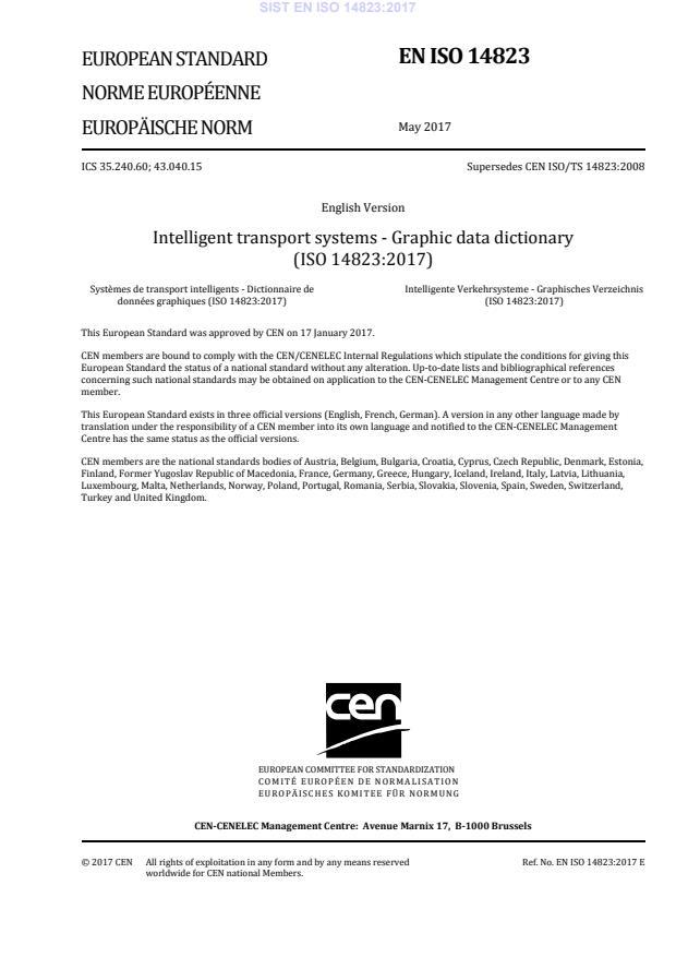 SIST EN ISO 14823:2017