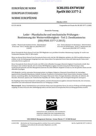 kSIST FprEN ISO 3377-2:2015