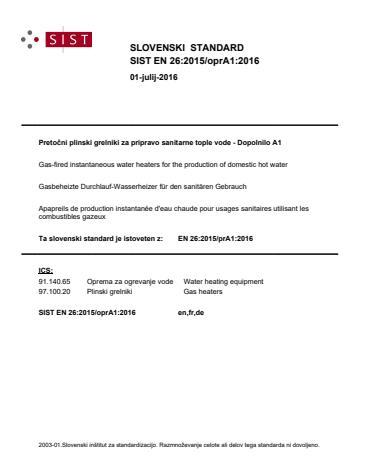 SIST EN 26:2015/oprA1:2016