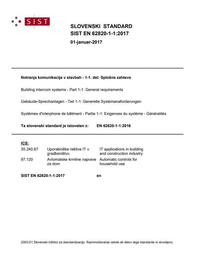 SIST EN 62820-1-1:2017
