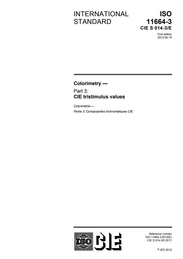 ISO 11664-3:2012 - Colorimetry