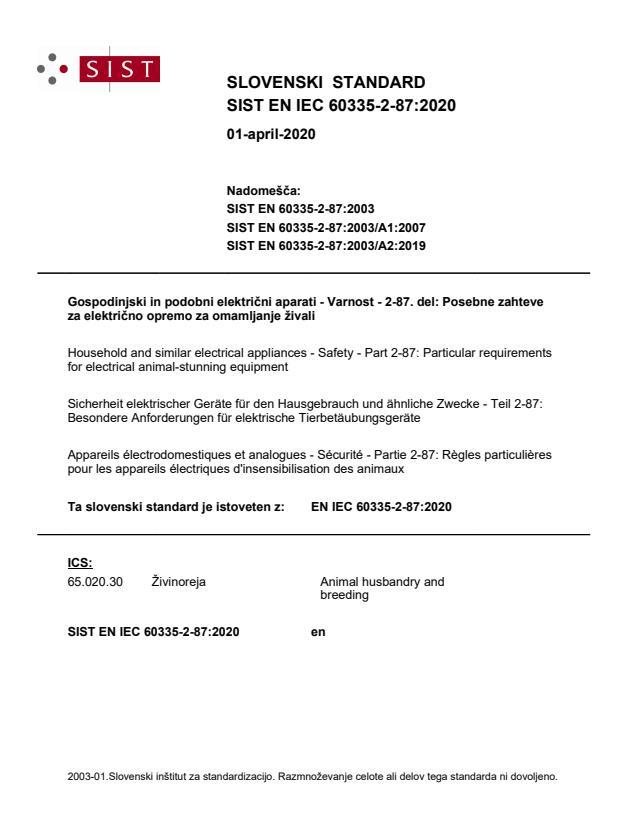 SIST EN IEC 60335-2-87:2020