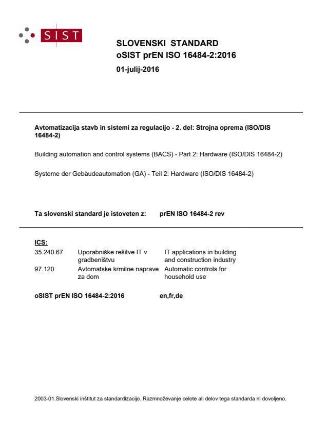 prEN ISO 16484-2:2016